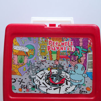 Vintage Pee-Wee's Playhouse Lunchbox and Thermos 1987