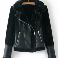 Amber Faux Fur & Leather Jacket