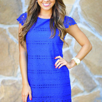 The Perfect Dot Dress: Royal Blue | Hope's