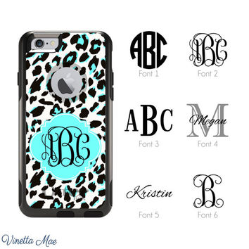 iPhone Otterbox Commuter Series Case for iPhone 5/5s, 6/6s, 6 Plus/6s Plus Monogrammed Cheetah Animal Print Personalized Phone Case 1226