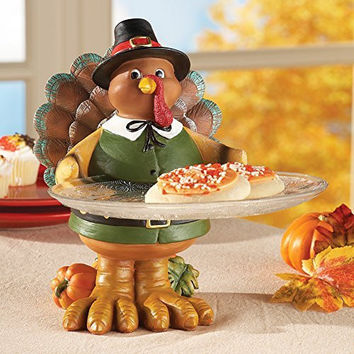 Thanksgiving Turkey Hand Painted Charming Serving Tray