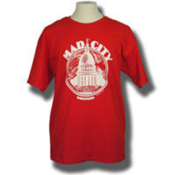 University Book Store : Madison Top Company Mad City T-Shirt (Red) *