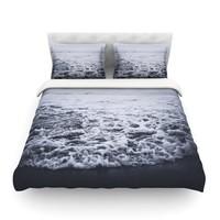 "Leah Flores ""Out to Sea"" Gray Coastal Featherweight Duvet Cover - Outlet Item"
