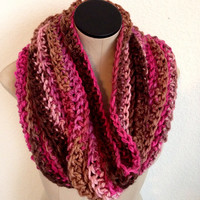 READY TO SHIP. Hand crocheted chunky Valentines Neckwarmer. Valentines Cowl. Women's Winter Fashion Accessory