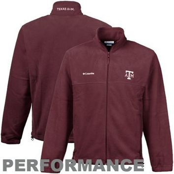 Columbia Texas A&M Aggies Maroon Flanker Full Zip Performance Fleece Jacket