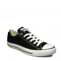 CONVERSE UNISEX ALL STAR OX BLACK CANVAS TRAINERS