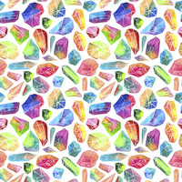 Rainbow Crystals Removable Wallpaper