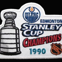 NHL Stanley Cup Champions Patch - Edmonton Oilers 1990