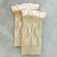 Cozy Honey Lace Top Boot Cuffs [6561] - $12.60 : Vintage Inspired Clothing & Affordable Dresses, deloom | Modern. Vintage. Crafted.