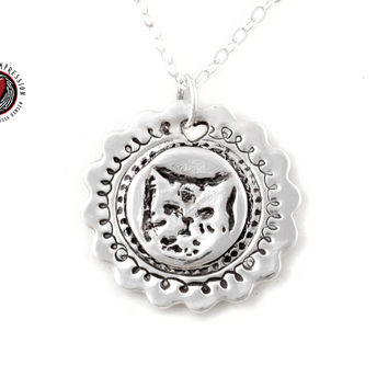 Memorial Cat Memory Pendant Pet Jewelry