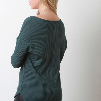 Thermal Knit Long Sleeve Top