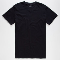 Blue Crown Mens V-Neck Tee Black  In Sizes