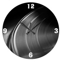 Clock: Vinyl Record and Turntable Wallclock