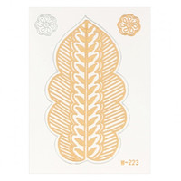 Plant Metallic Temporary Body Tattoo Sticker