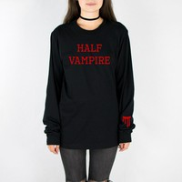 Half Vampire Long Sleeve Tee