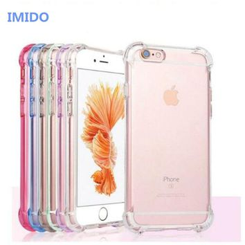 Airbag Drop Protection Case For iPhone 7 Transparent Phone Cases Soft TPU Clear Back Cover Coque For iPhone X 8 7 6 6S Plus Case
