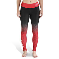 Detroit Red Wings Womens Gradient Print Leggings