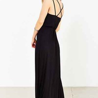 Silence + Noise Knit Surplice Maxi Dress - Urban Outfitters