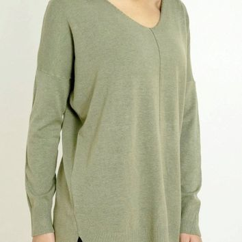 Sierra Ultra Soft Sweater in Heather Olive