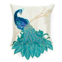 One Kings Lane - Thro - Fancy Peacock Pillow,Multi