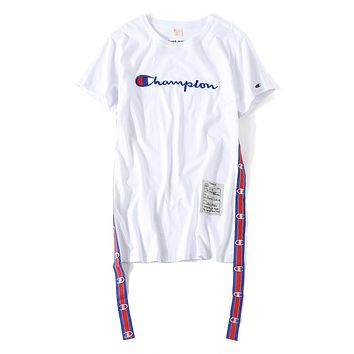 Vetements X Champion Fashion Long Tnt Tape T-shirt Dress