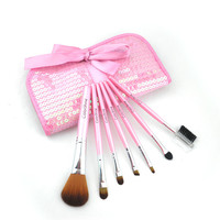 Red 7-pcs Pink Make-up Brush Set = 4831033220