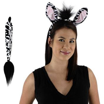 elope Zebra Ears and Tail Set One Size