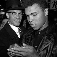Muhammad Ali and Malcolm X NYC March 1 1964 Art Print