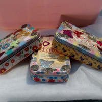 Upcycled, Recycled, Tins Made Into Adorable Containers for Affirmations, Daily Prayer Boxes, Scriptures, Love Notes, Embellishments