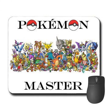 Custom Made Pokémon Mouse Pad Mousepad Pokémon Master