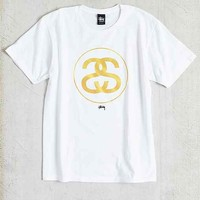 Stussy Gold SS Link Tee- White