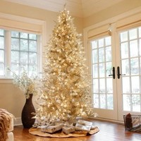 Pre-Lit Layered Platinum Frasier Fir Christmas Tree - Walmart.com