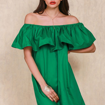♡ Ruffles off shoulder dress ♡