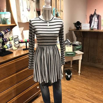 Striped Babydoll Top