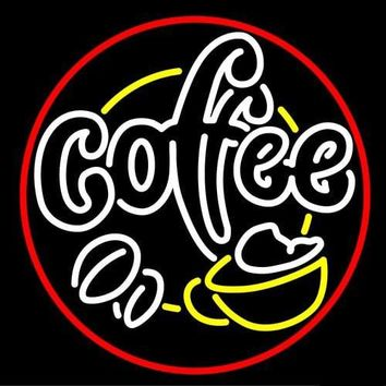 Coffee House With Cafe Cup Neon Sign Real Neon Light