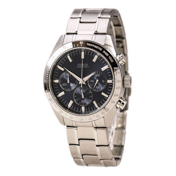 Guess U12505G3 Men's Classic Blue Dial Stainless Steel Chronograph Watch
