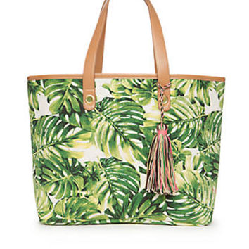 New Directions® Palm Leaf Tote