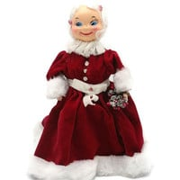 Mrs Claus Table Top Celluloid Doll Decoration