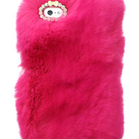 SO FURRY BUBBLEGUM PINK IPHONE CASE