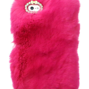 SO FURRY ROSE PINK IPHONE CASE