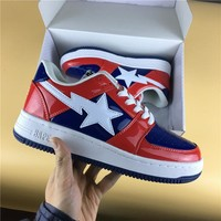 Foot Soldier BAPE STA Red-Blue/White Sneaker Shoe 36-45