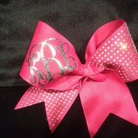 Monogrammed cheer bow  by PalmettoPrincessShop on Etsy