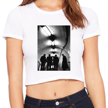 Joy Division Unknown Pleasure On Reality Photo Crop T-shirt