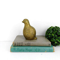 Vintage Brass Bird Figurine Home Decor Statuette Desk Table Mantle Bookshelf Paperweight Interior Design Accent
