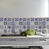 So into this design on Fab! Spanish Blue Tiles #FabForAll