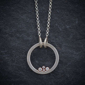 Give.Love Pendant Necklace - Round with .18 cttw Diamonds