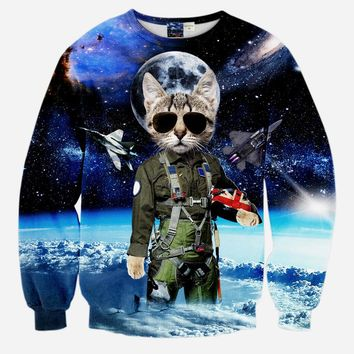 Men And Women Print Animal Leopard Tiger Cat Pullover 3D Hoodies Funny Galaxy Space Sweatshirt Sudaderas Tops Clothes