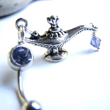 Genie Bottle Belly Ring Aladdins Magic Lamp Belly Button Jewelry