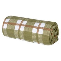 Green and Brown Plaid Deluxe Flannel Swaddle Blanket