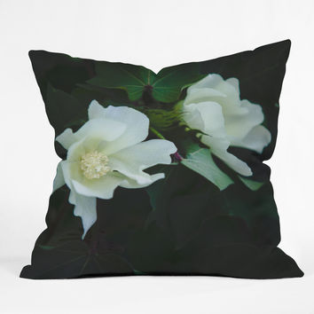 Catherine McDonald Cotton Blossom Outdoor Throw Pillow